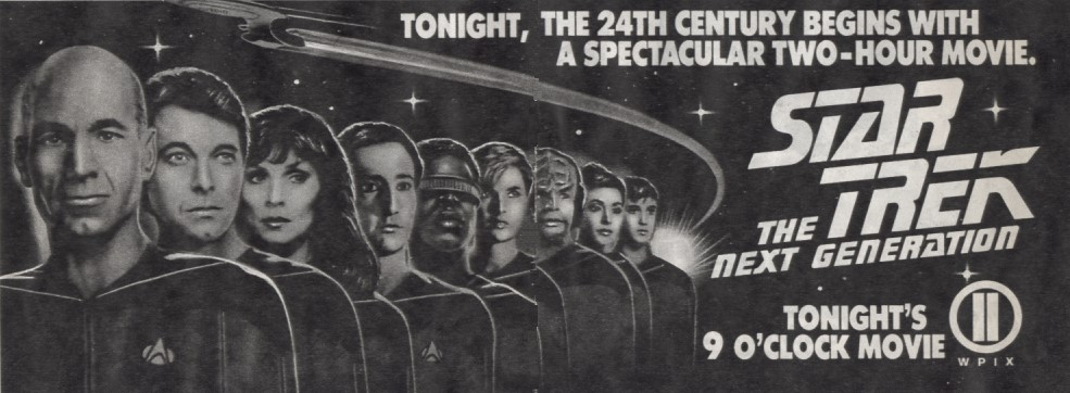 Star Trek The Next Generation Series Premiere TV Ad