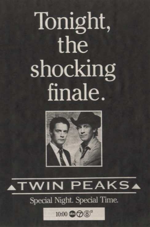 Twin Peaks Season 1 Finale TV Ad