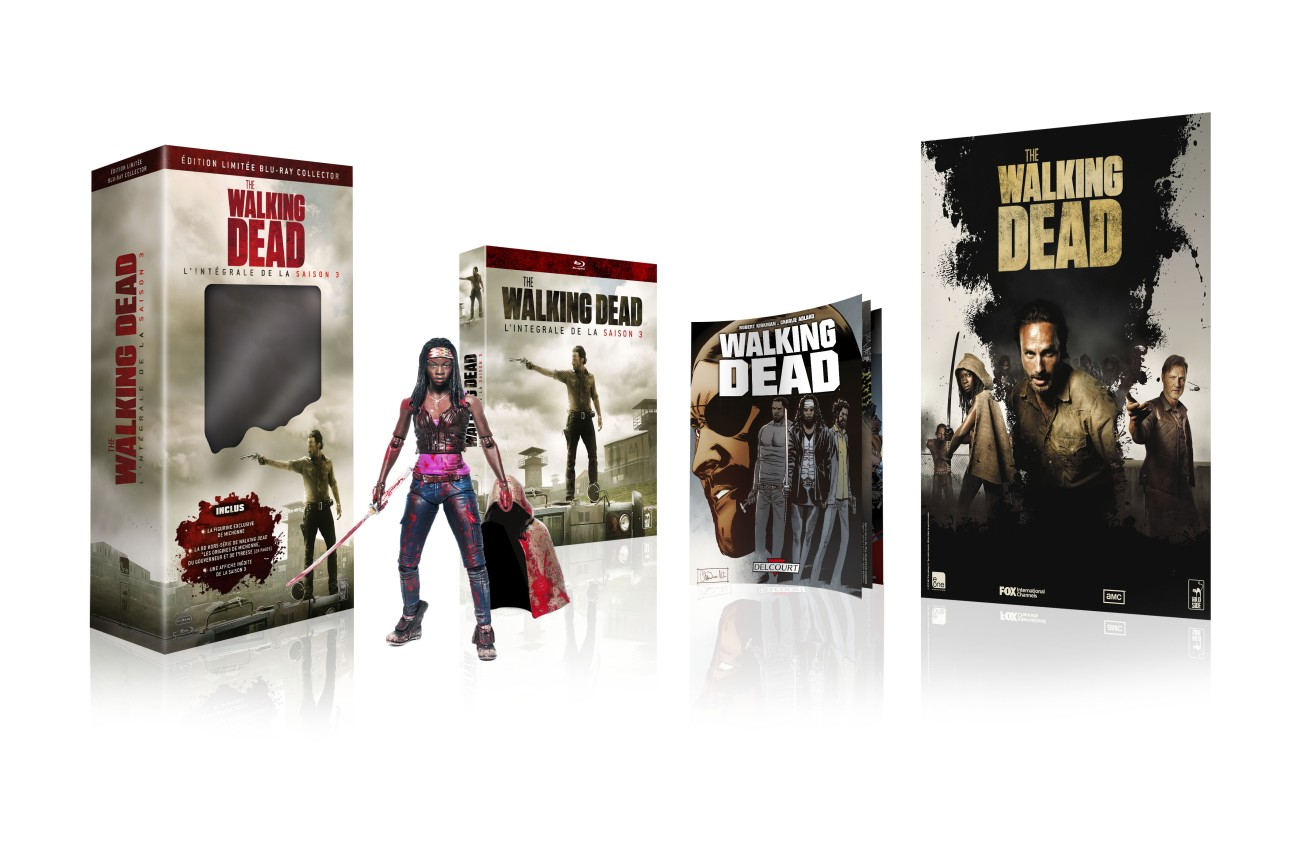 Pack 3D Sceno ed collector figurine The walking dead S3