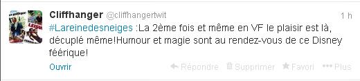 tweet la reine des neiges 2