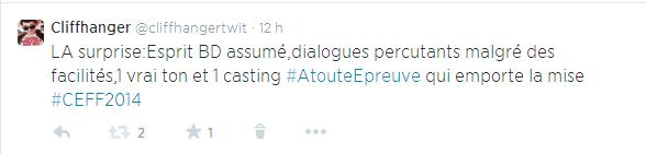 tweet A Toute épreuve