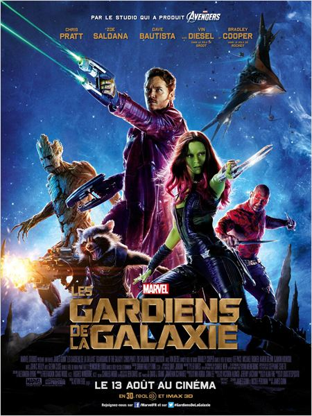 les gardiens de la galaxie affiche cliff and co