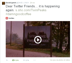tweet david lynch