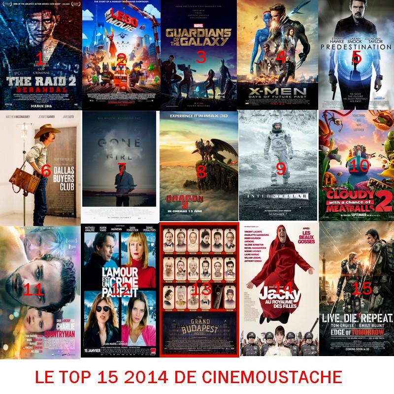 LE TOP 15 2014 DE CINEMOUSTACHE