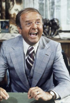 "UNITED STATES - OCTOBER 25:  EIGHT IS ENOUGH - ""Cops and Toddlers"" - Season Three -, 10/25/78, The Bradford house was turned into a day care center., Pictured: Dick Van Patten (Tom),  (Photo by ABC Photo Archives/ABC via Getty Images)"