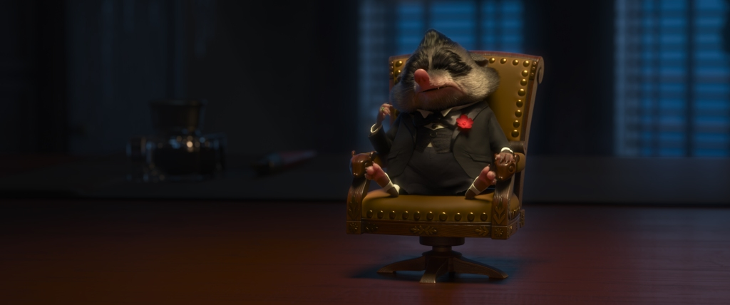 """MR. BIG — The most fearsome crime boss in Tundratown, Mr. Big commands respect—and when he feels disrespected, bad things happen. A small mammal with a big personality, Mr. Big is voiced by Maurice La Marche. Walt Disney Animation Studios' """"Zootopia"""" opens in U.S. theaters on March 4, 2016. ©2016 Disney. All Rights Reserved."""
