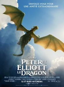 Peter et Elliott le dragon affiche cliff and co