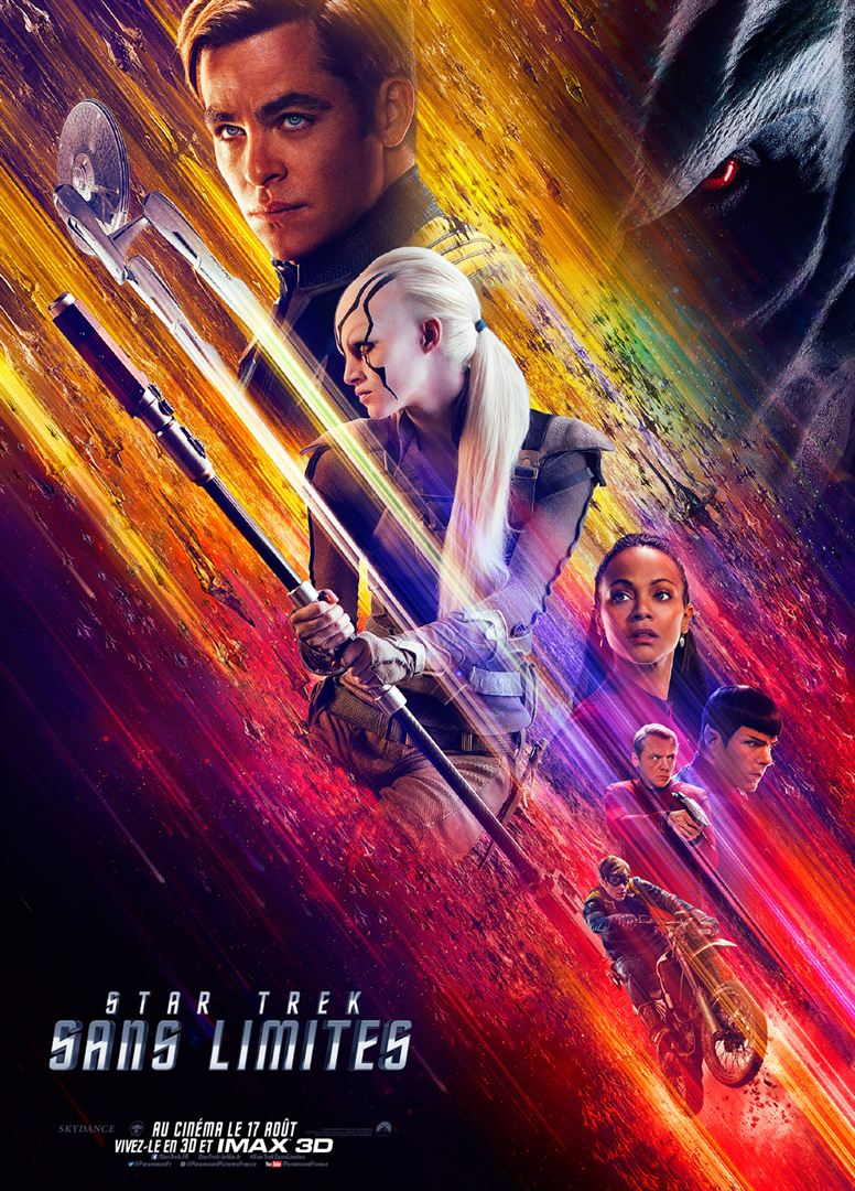 star trek sans limites affiche cliff and co