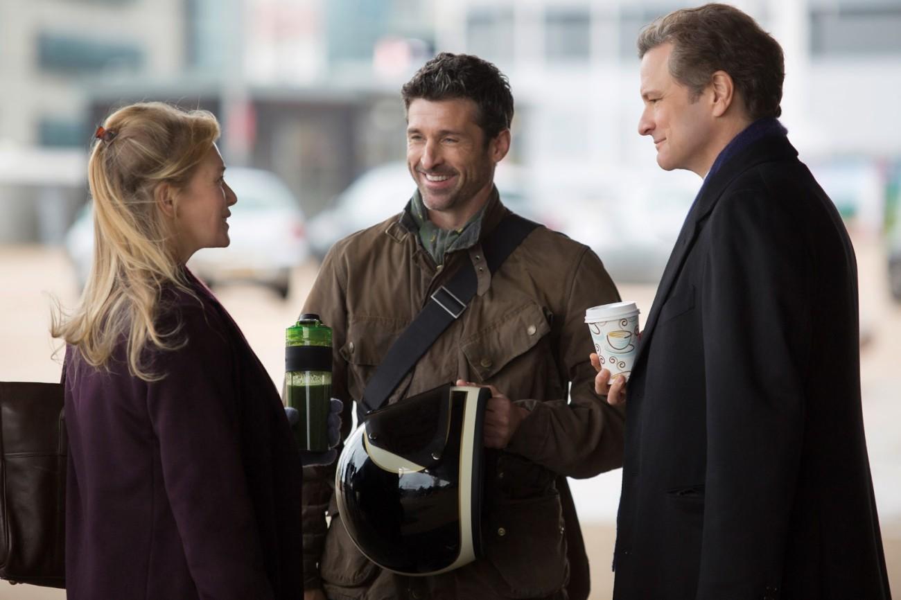 Bridget (Renée Zellweger) mit Jack (Patrick Dempsey, m.) und Mark (Colin Firth, r.)