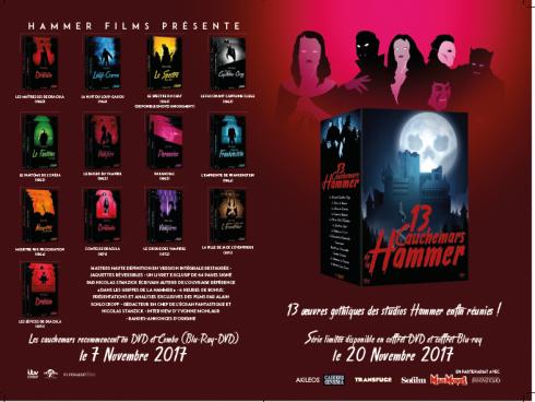 13 films de la Hammer dans un coffret très complet qui vous fera faire des cauchemars. Elephant Films