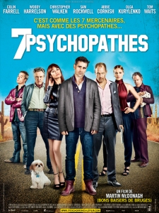 7 PSYCHOPATHES AFFICHE CLIFF AND CO