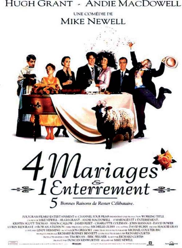 quatre mariages et un enterrement affiche cliff and co