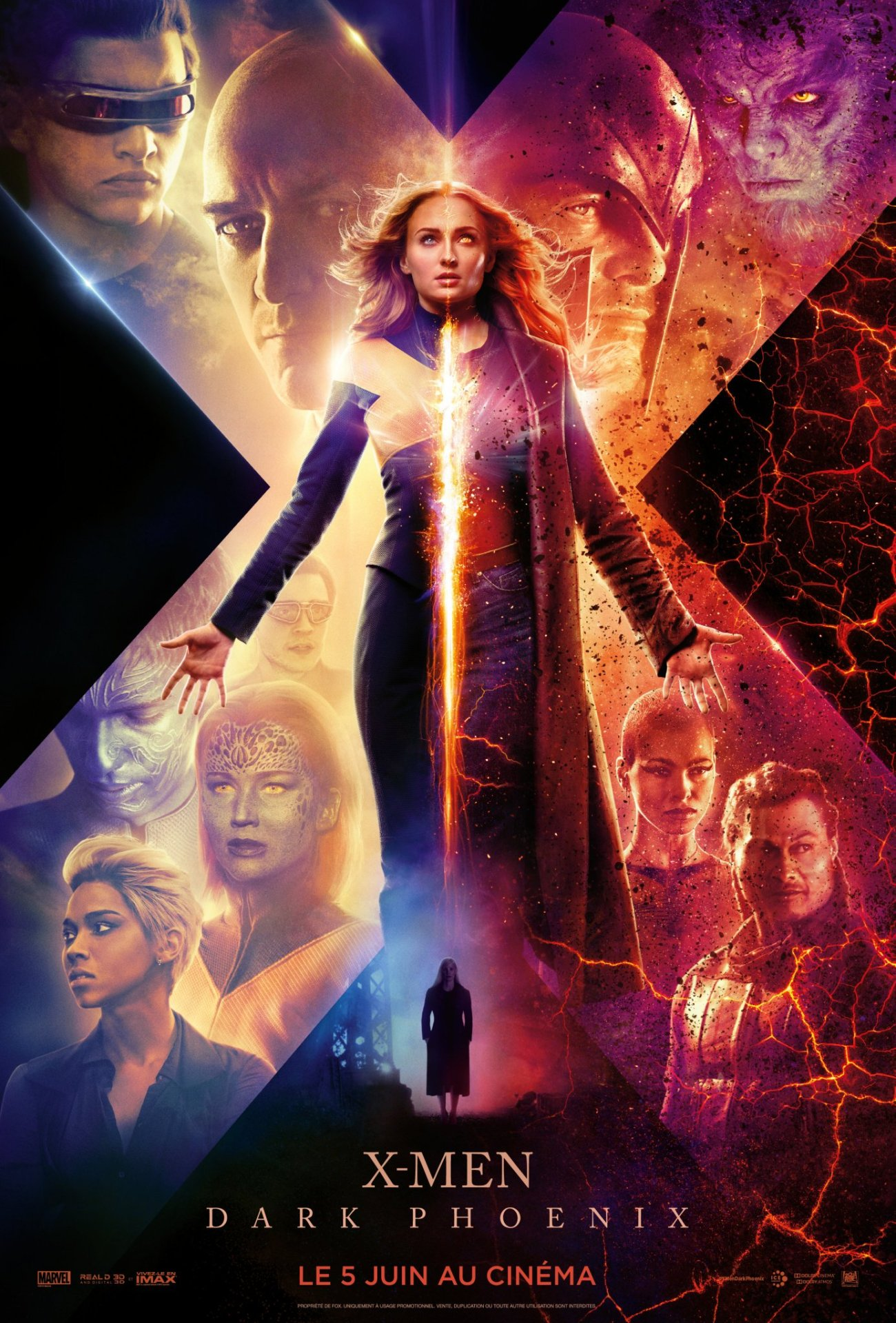 XMenDarkPhoenix-affiche-cliff-and-co