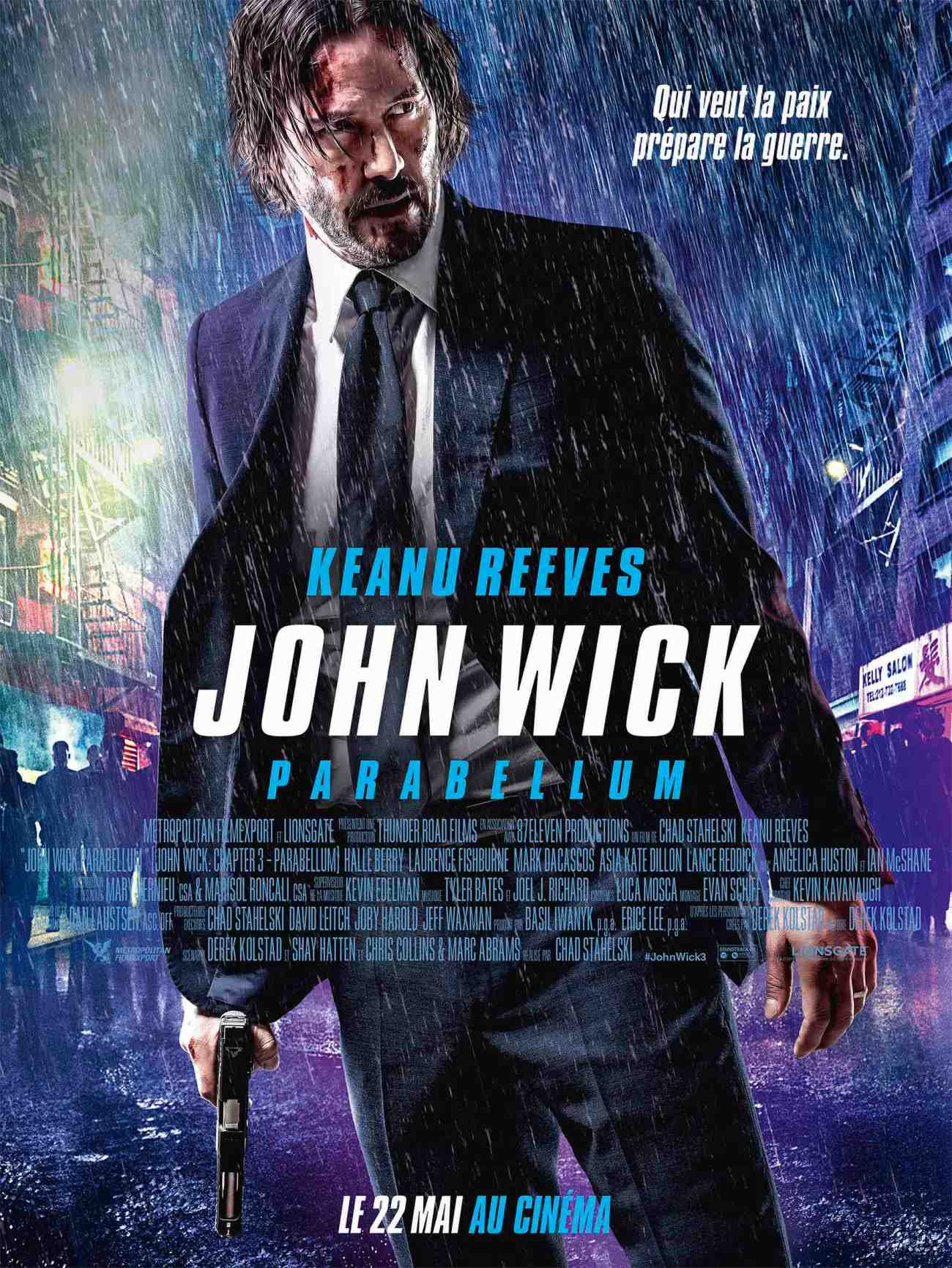 JOHN WICK PARABELLUM AFFICHE CLIFF AND CO