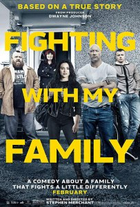 une famille sur le ring affiche cliff and co