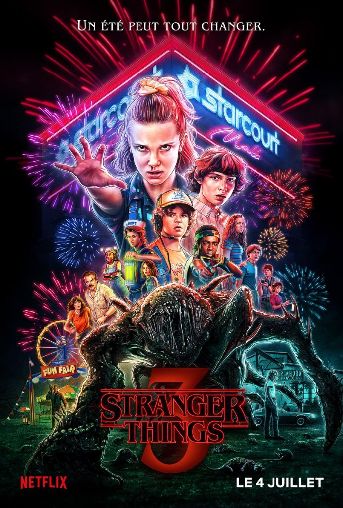 stranger things s3 affiche cliff and co