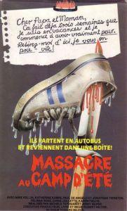 massacre au camp d'été affiche cliff and co